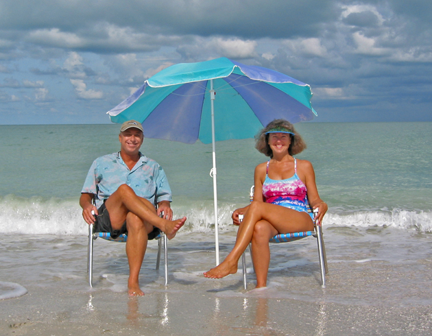 Billy and Akaisha on the beaches of Naples, Florida