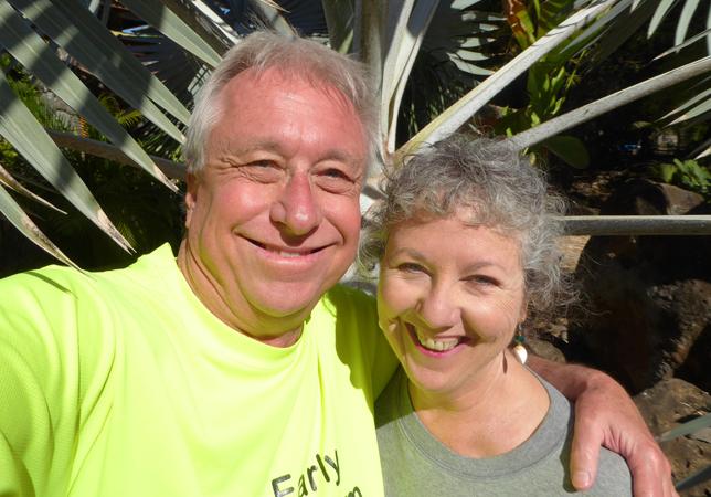 Billy and Akaisha at Mar de Jade, Chacala, Nayarit, Mexico