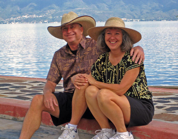 Billy and Akaisha on the southern shore of Lake Chapala, Mexico