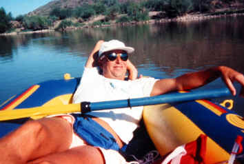 BILLY RAFTING ON THE GREAT SALT RIVER