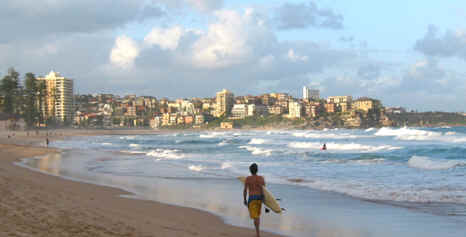 SURF'S UP ON MANLY BEACH