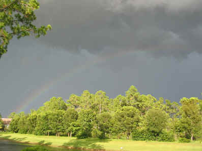 RAINBOWS ARE COMMON SIGHTS AFTER STORMS