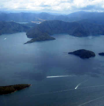 MARLBOROUGH SOUND SHOT FROM A SMALL PLANE