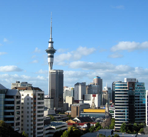 View from Hostel, Auckland, New Zealand