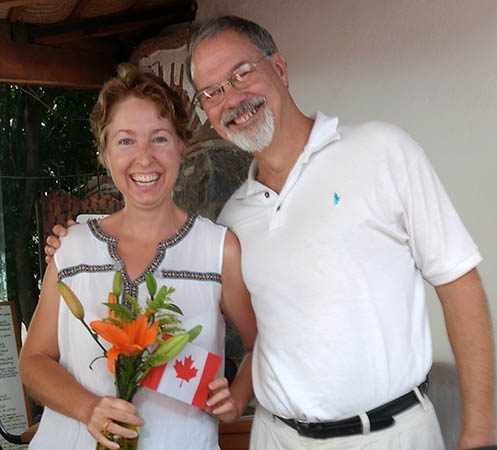 Kathy and Jim, Happy Thanksgiving, San Antonio Tlayacapan, Mexico