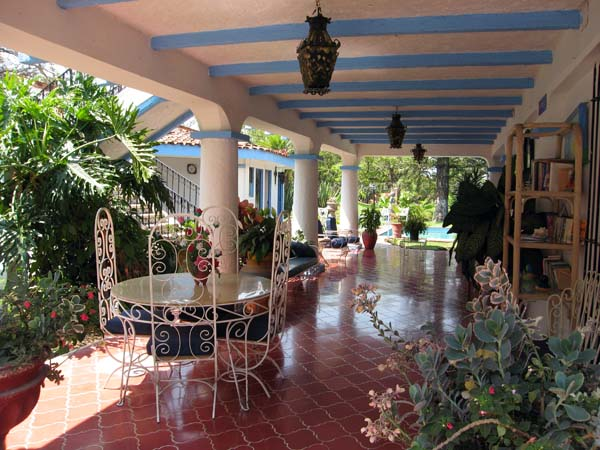 Another view of open patio and plants at the Memory Care Unit