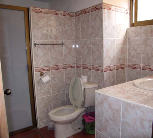 A typical ensuite bathroom