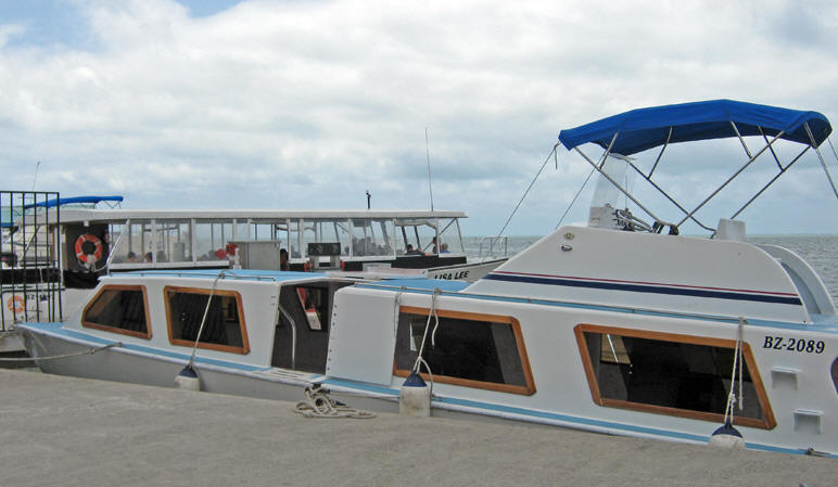 Our water taxi to Ambergris Caye, Belize