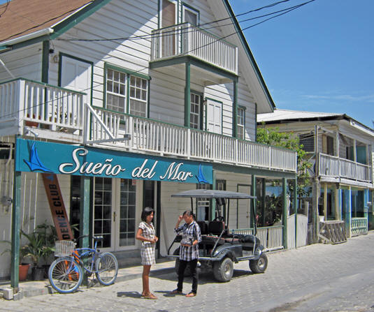Streets are clean and most people walk, bicycle or use a golf cart to get around. Belize