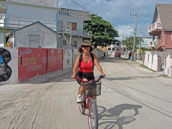 Here I am buzzin' around on my rented bike. Belize