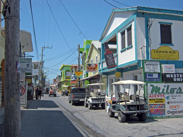 Commercialism is far more present here. Belize