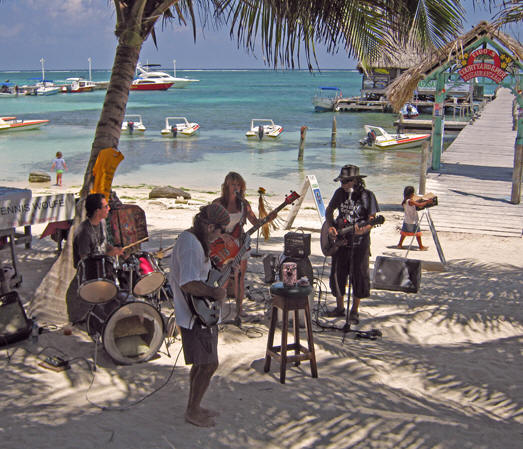 A Belizean beach band, Belize