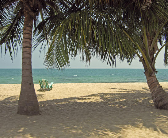 The Beach at Placencia, Belize.