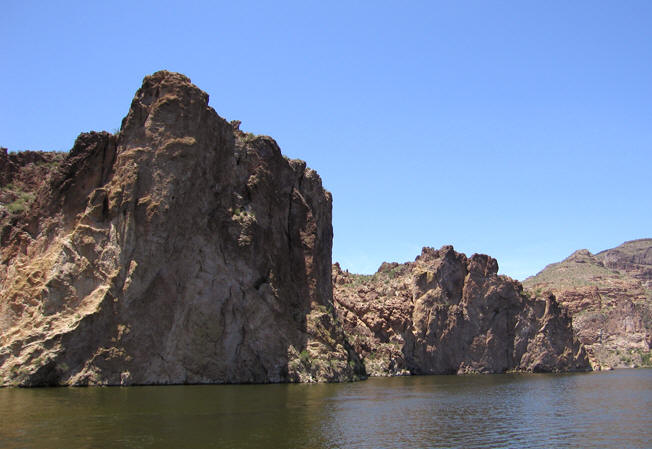 Barren cliffs full of life! Canyon Lake, AZ
