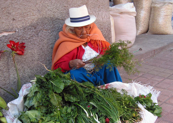 NATIVE WOMAN PREPARING FOR HER DAILY BUSINESS