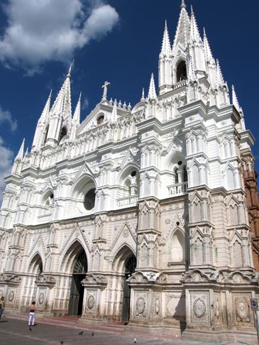 An outside view of the Catedral