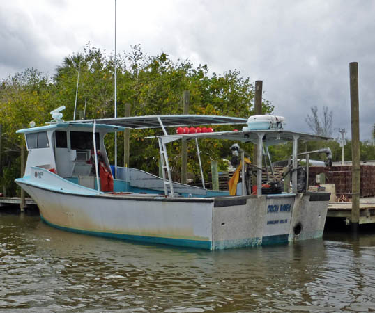 Stone crab fishing boat
