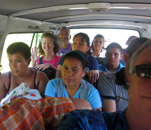 Combis or collectivos are a customary form of transportation in Central America along with buses