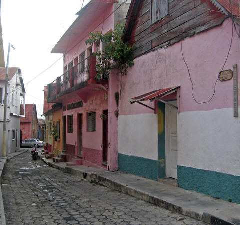 Narrow, cobblestone streets and alleyways are abundant in Flores