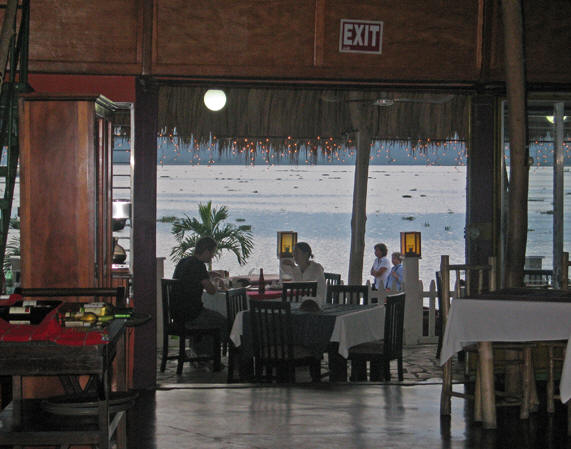 Enchanting and romantic lake view restaurants abound in Flores
