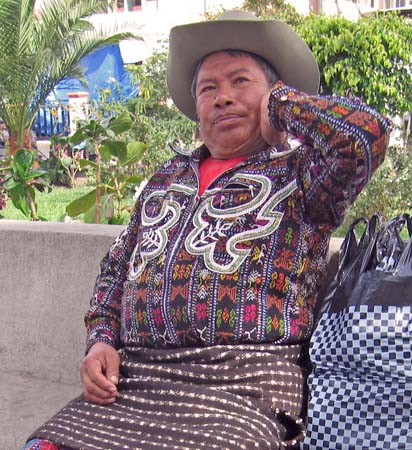 Maya man in native dress