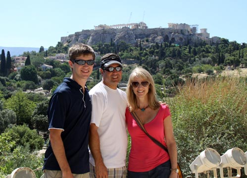 The family in Athens, Greece