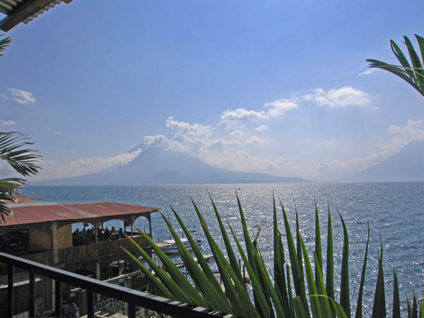 View of gorgeous Lake Atitlan