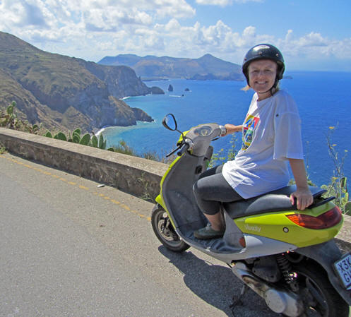 Motor biking on the island of Sicily