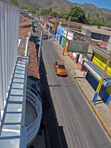 Street view from hostal