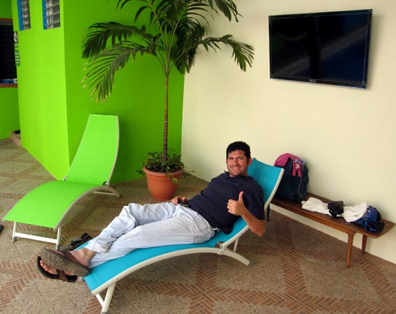 The owner relaxing a bit