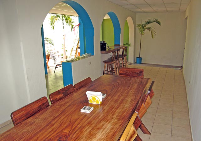 Open air community dining room