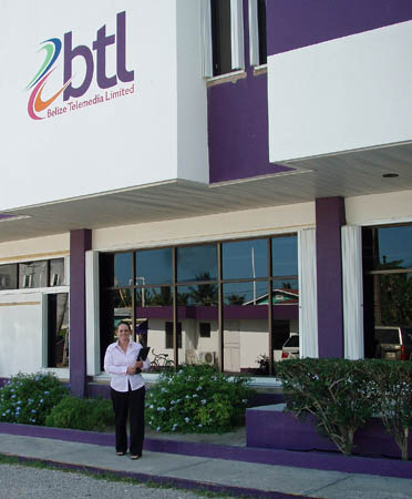 Susanne on a client visit to Belize Telemedia