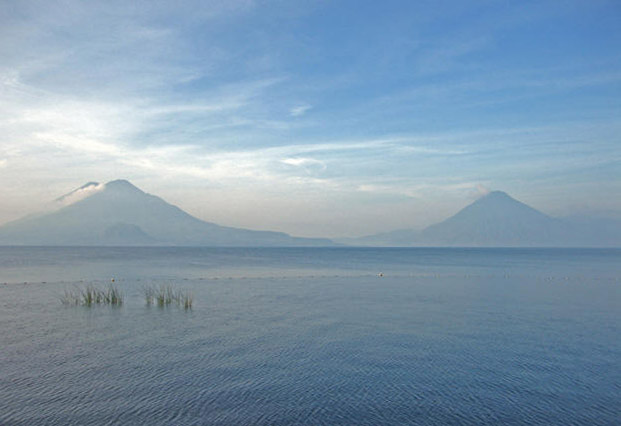 boat ride on Lake Atitlan