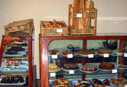 TYPICAL PASTRIES ON DISPLAY