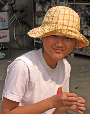 Young girl in Laos