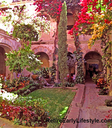The Quinta Real Hotel and Restaurant in Oaxaca, Mexico