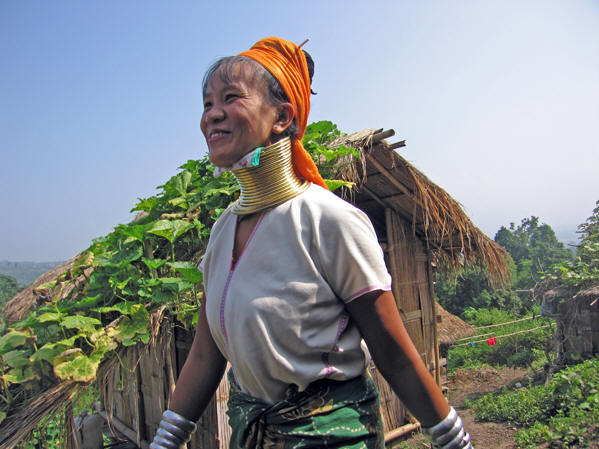 Woman of the Long neck  tribe in Thailand