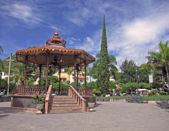 The Plaza is the heart of Chapala, Mexico