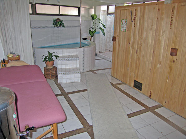 Sauna room and hot tub. Thai Massage, Chiang Mai, Thailand