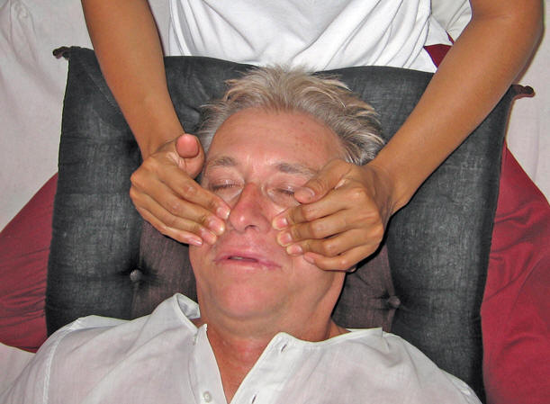 Facial massages are simply a delight! Thai massage, Chiang Mai,  Thailand