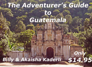 Book cover with ancient church outside of Antigua, Guatemala