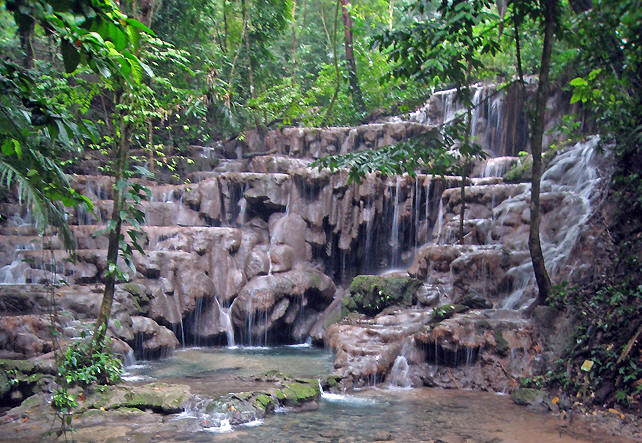 Waterfalls at Palenque