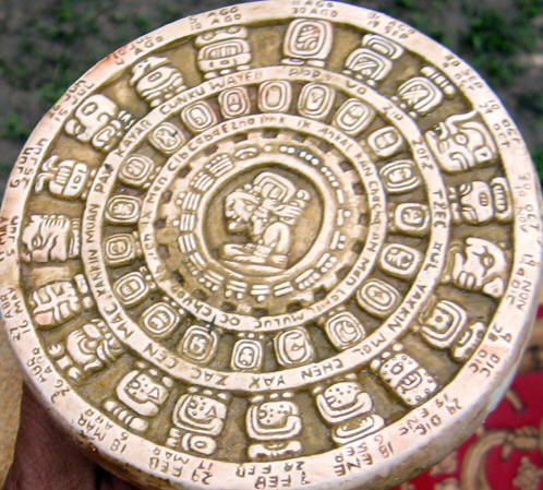 A Maya Calendar Wheel with Spanish translations
