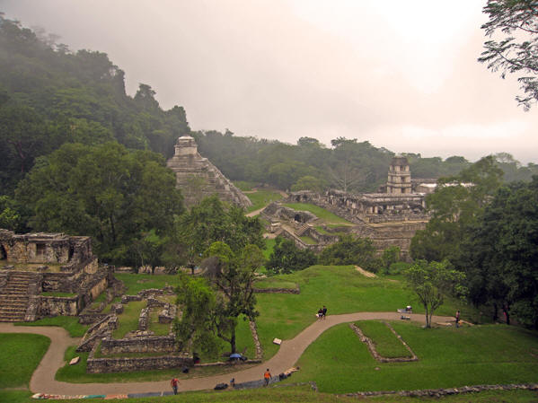 A more expansive view of Palenque