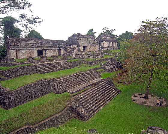 Palenque keeps well maintained grounds