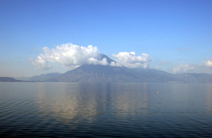 The physical beauty of Pana and Lake Atitlan remains.