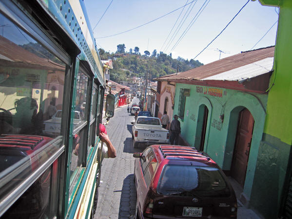 The colorful buildings and tight, narrow streets of Solol�