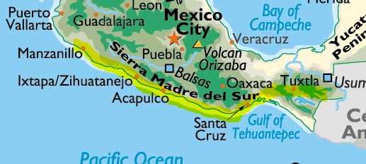 Mexico Pacific Coast Map The Adventurer's Guide to the Pacific Coast of Mexico