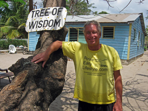 Billy gettin' wise on Placencia Beach, Belize