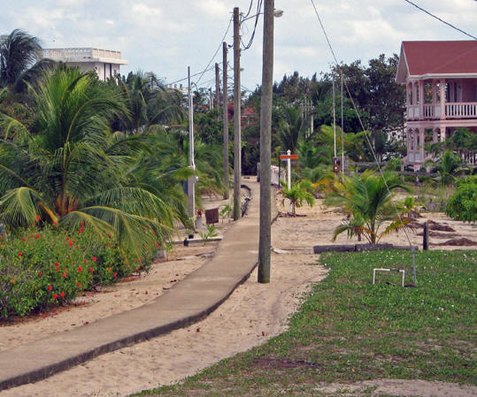 Another look at Main Street. Placencia,  Belize